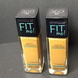 Maybelline Fit Me! Mocha #360 Foundation x 2 Btls